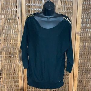 Michael Kors Black Sweater Gold Chain Shoulder